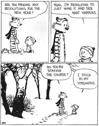 New Years Resolution Calvin and Hobbes