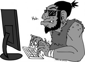 Online Trolls James Kin Cartoon uwire dot com