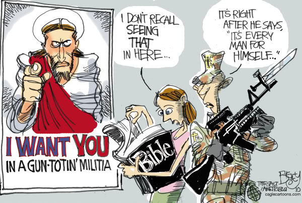 Tea Party Christians cartoonist Bigey The alt of America caglecartoons dot com
