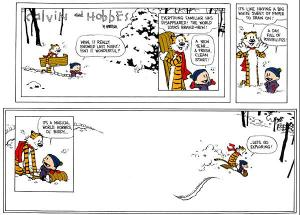 Calvin and Hobbes lets go exploring