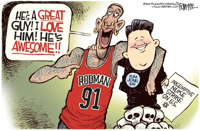 Rodman and Kim Jung Un