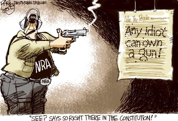 gun ownership by idiots Pat Bagley, Salt Lake Tribune
