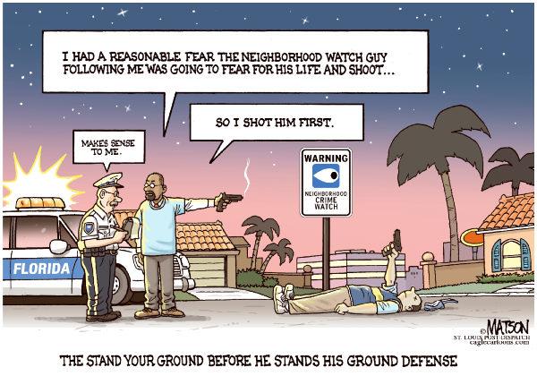 stand ground reverse response RJ Matson