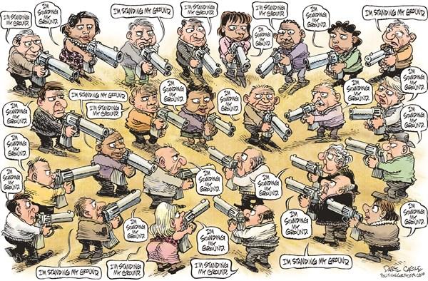 Standing my ground Daryl Cagle  CagleCartoons com