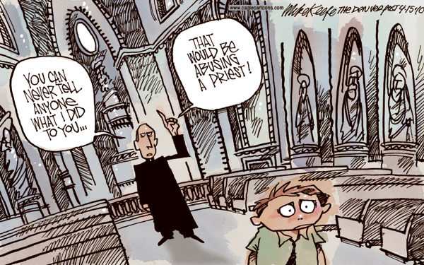 Church Sex Abuse against children Mike Keefe Cagle Cartoons