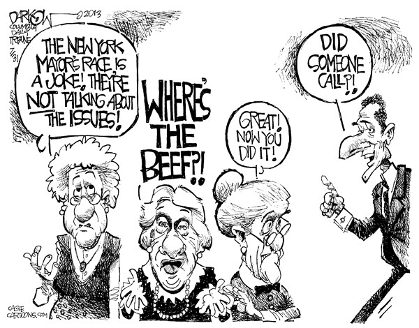 Weiner Where is the beef John Darkow Columbia Daily Tribune  Missouri