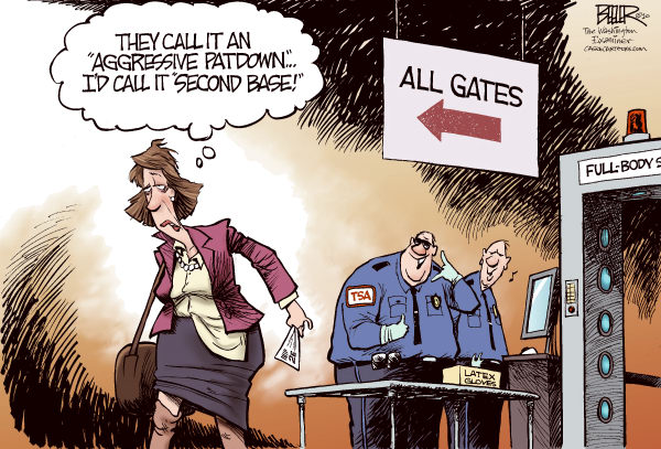 TSA Pat Down Nate Beeler The Columbus Dispatch