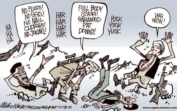 TSA Terrorists won Mike Keefe Cagle Cartoons