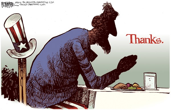 Thanksgiving America Rick McKee The Augusta Chronicle