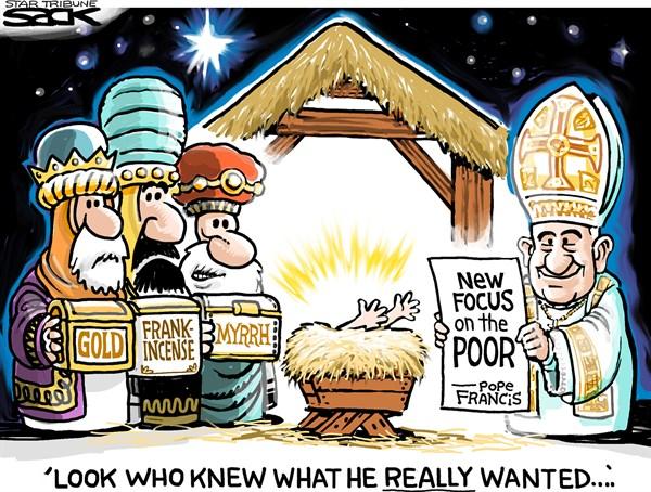 Pope Nativity Scene Steve Sack The Minneapolis Star Tribune