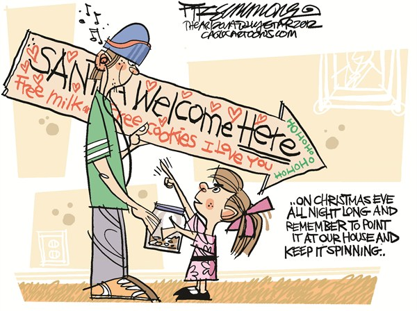 Santa Sign David Fitzsimmons The Arizona Star