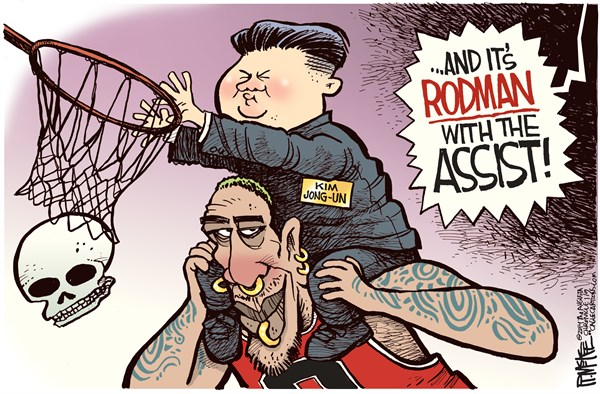 Dennis Rodman Rick McKee The Augusta Chronicle