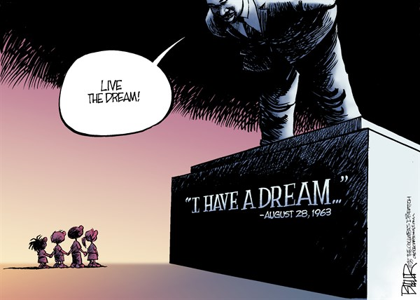 Martin Luther King Live the Dream Nate Beeler The Columbus Dispatch
