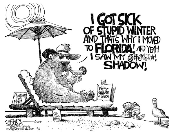 Ground Hog II John Darkow, Columbia Daily Tribune Missouri