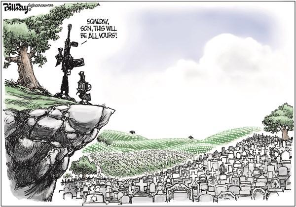 Guns Bill Day Cagle Cartoons