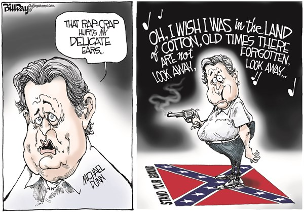 Michael Dunn Racist Murderer Bill Day Cagle Cartoons