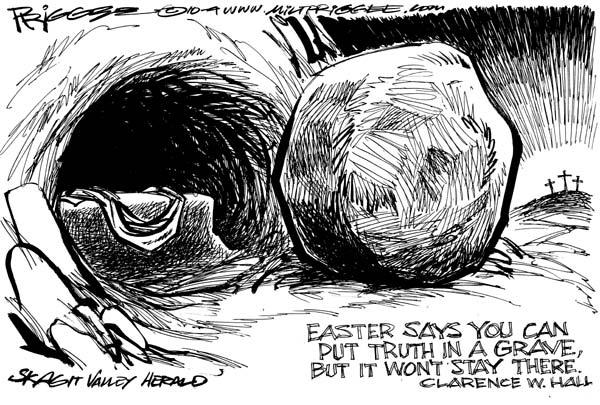 Easter Meanig Milt Priggee www dot cagle dot com FB