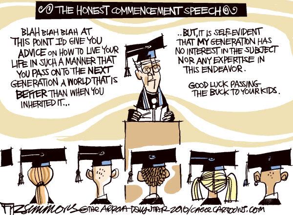 Commencement Speech David Fitzsimmons The Arizona Star