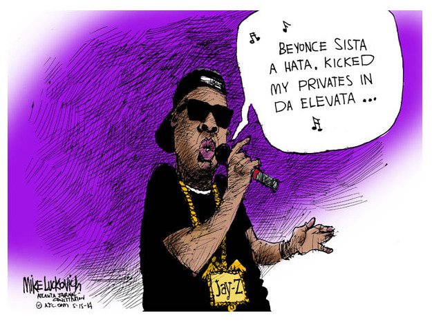 Jay Z Song Cartoonist Mike Luckovic Atlanta Journal Constitution