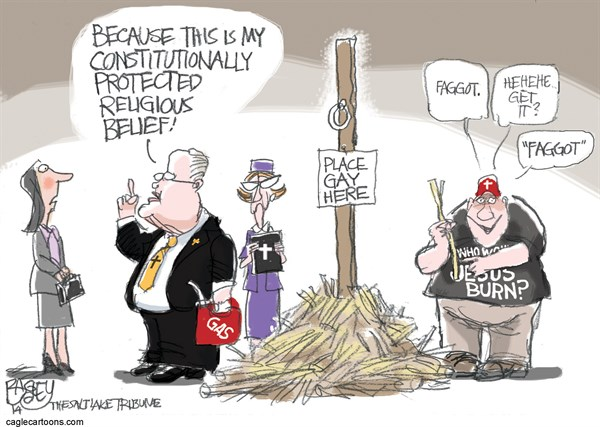 Persecution of Gays Pat Bagley Salt Lake Tribune