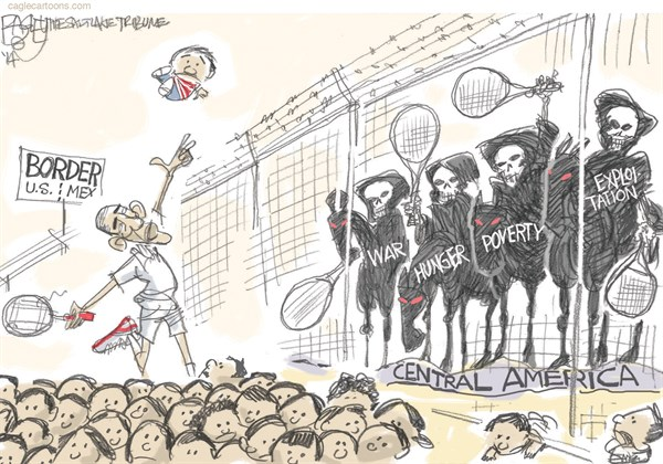 Border Children Pat Bagley  Salt Lake Tribune