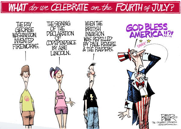 July 4th Why We Celebrate Nate Beeler, The Columbus Dispatch