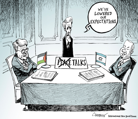 Middle East Peace Talks Patrick Chappatte
