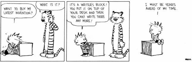 Writers block Calvin and Hobbes