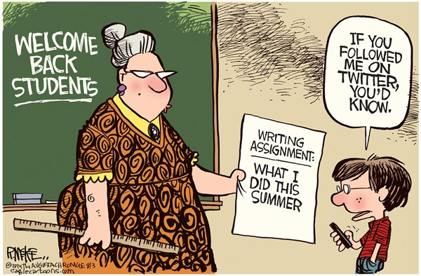 Back to School Rick McKee The Augusta Chronicle