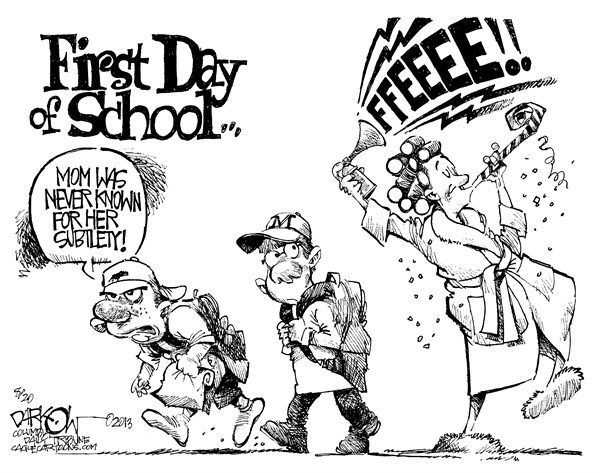 First Day of School John Darkow Columbia Daily Tribune Missouri