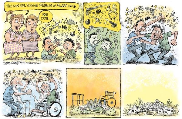 Israelis vs Palestinians Daryl Cagle CagleCartoons com
