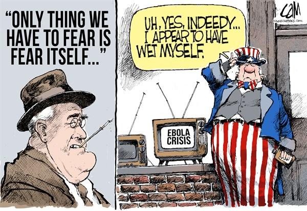 Ebola Fear Cam Cardow Cagle Cartoons