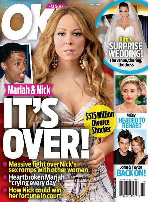 OK Cover Mariah and Nick Split