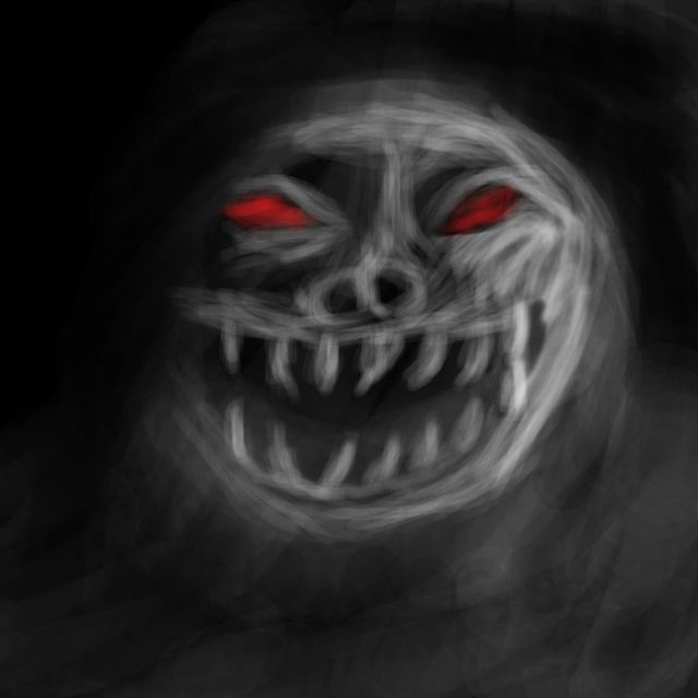 Scary Face imgarcade dot com darqd