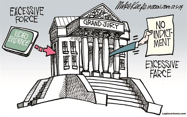 Eric Garner Mike Keefe Cagle Cartoons