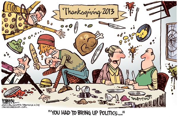 Thanksgiving Dinner End Rick McKee The Augusta Chronicle
