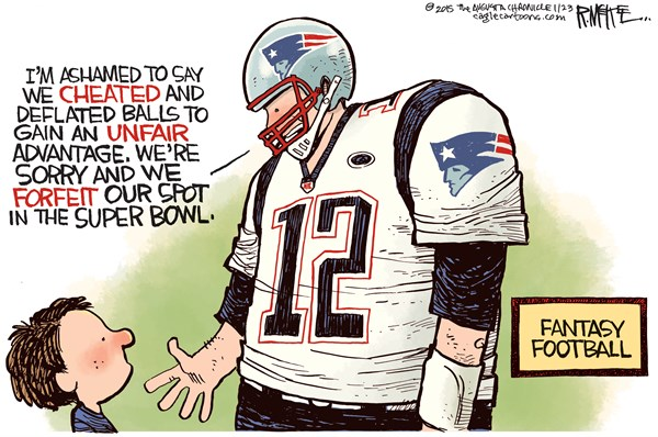 Deflated Balls FB Rick McKee The Augusta Chronicle