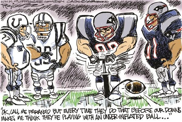 NFL Underinflated Ball Milt Priggee  www miltpriggee com