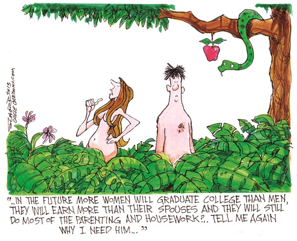 Adam and Eve II Bill Schorr Cagle Cartoons