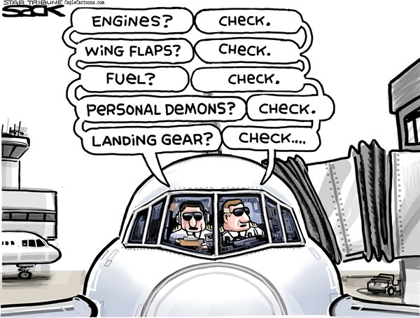 Depressed Pilot  Steve Sack The Minneapolis Star Tribune