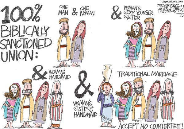 Biblical Marriage Pat Bagley Salt Lake Tribune