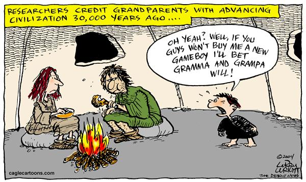 Grandparents vs parents Larry Wright CagleCartoons com