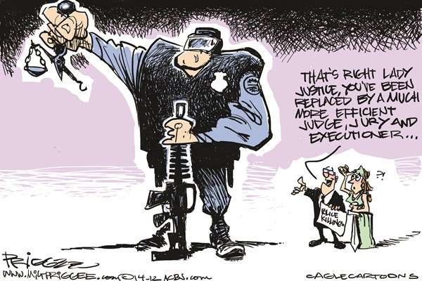 Police Killings Milt Priggee, www miltpriggee com
