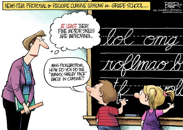 Requiring Cursive in Elem School Nate Beeler The Columbus Dispatch