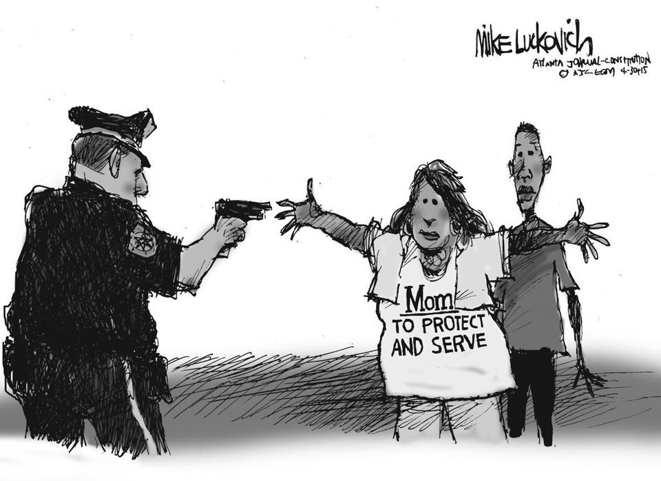 Baltimore Mom Cartoon Credit cartoonist