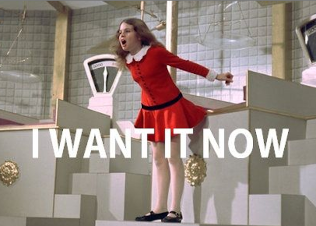 Veruca Salt from Willy Wonka