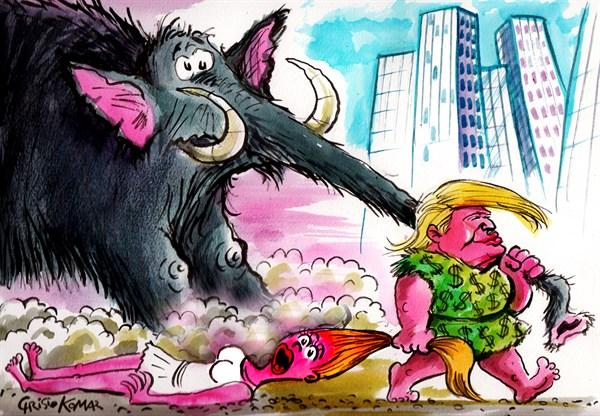 Donald Trump Cave Man Christo Komarnitski Bulgaria