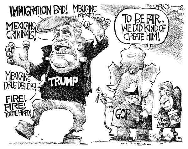 Donald Trump Monster John Darkow Columbia Daily Tribune Missouri