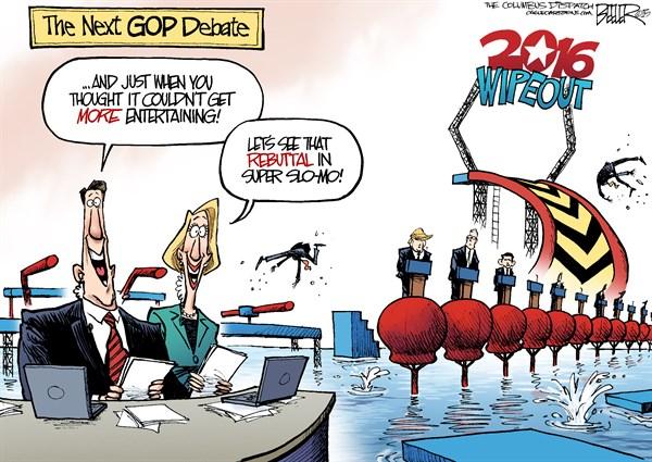 GOP Debate Nate Beeler The Columbus Dispatch