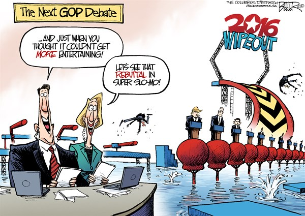 GOP Debate Nate Beeler The Columbus Dispatch